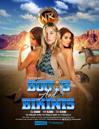 July Boots & Bikini Contest at Whisky River