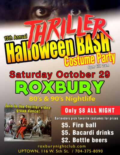 15th Annual Thriller Halloween Bash at Roxbury