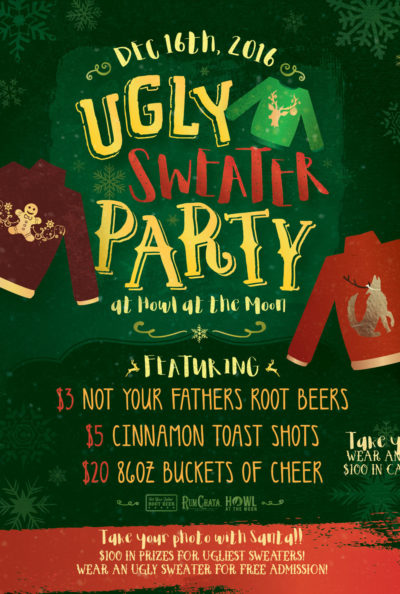 Ugly Sweater Party at Howl at the Moon