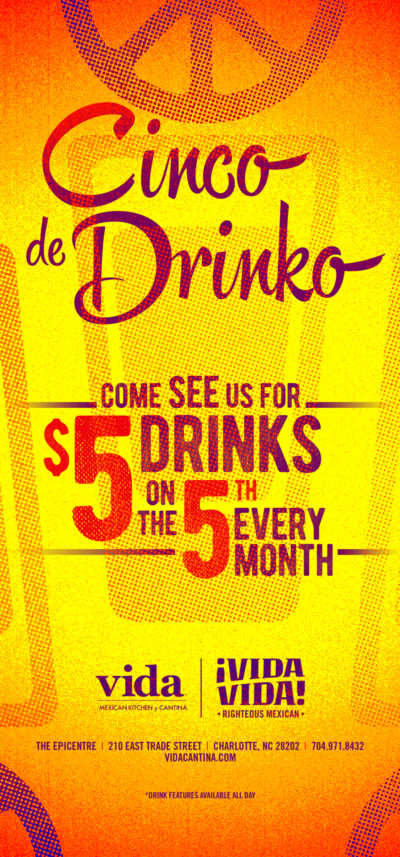 Cinco de Drinko at Vida Vida