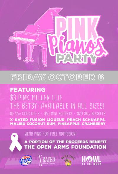 Pink Pianos Party at Howl at the Moon