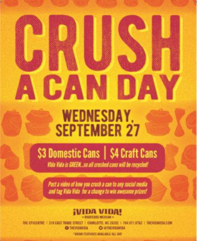 Crush a Can at Vida Vida