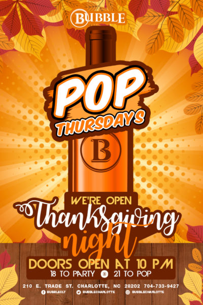 Pop Thursdays Thanksgiving Edition