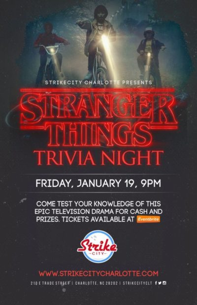 Stranger Things Trivia Night at Strike City