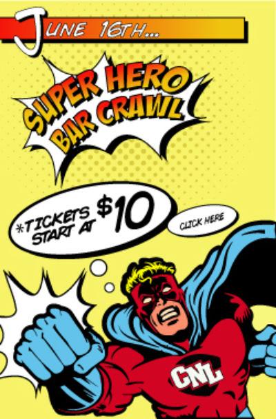Super Hero Bar Crawl