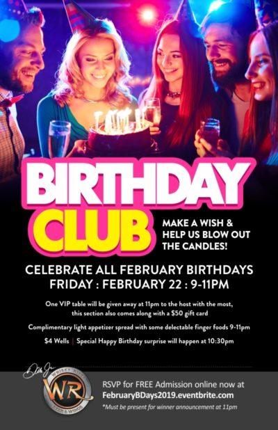 Whiskey River - Birthday Club